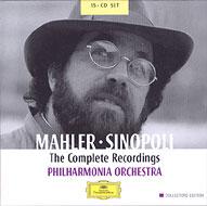 【送料無料】 Mahler マーラー / 交響曲全集、歌曲集 シノーポリ(15CD) 輸入盤 【CD】