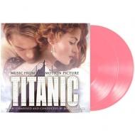 送料無料 タイタニック Titanic オリジナルサウンドトラック 半透明ピンク ヴァイナル仕様 music おしゃれ 180グラム重量盤レコード 2枚組 LP 超激安特価 on vinyl