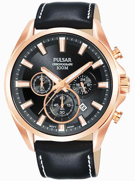 セイコー SEIKO パルサー PULSAR クロノグラフ腕時計 PT3A28X1
