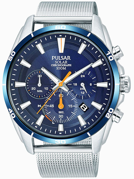 セイコー SEIKO パルサー PULSAR ソーラークロノグラフ腕時計 PZ5085X1