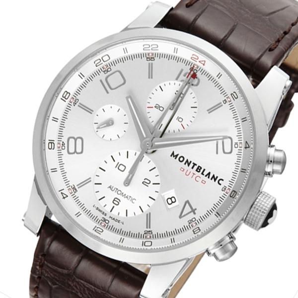 モンブラン タイムウォーカー クロノ 自動巻き メンズ 腕時計 107065 シルバー