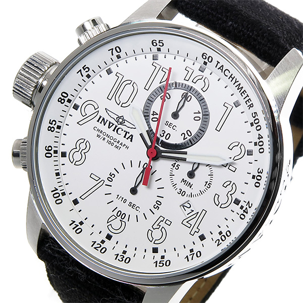 インヴィクタ INVICTA クロノ クオーツ メンズ 腕時計 1514 ホワイト