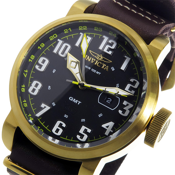 インヴィクタ INVICTA クオーツ メンズ 腕時計 18888 ブラック/ゴールド