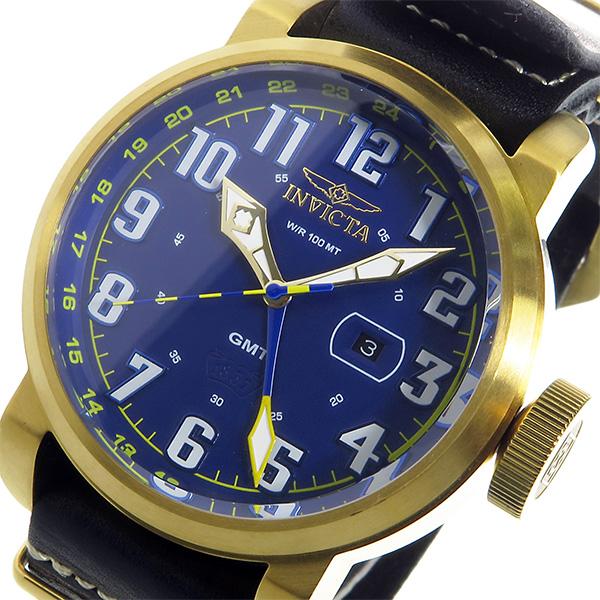 インヴィクタ INVICTA クオーツ メンズ 腕時計 18889 ブルー/ゴールド