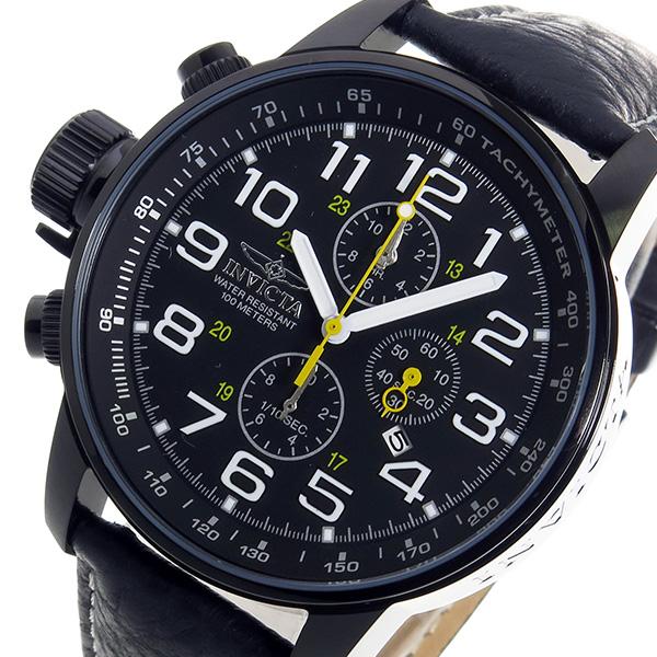 インヴィクタ INVICTA クロノ クオーツ メンズ 腕時計 3332 ブラック