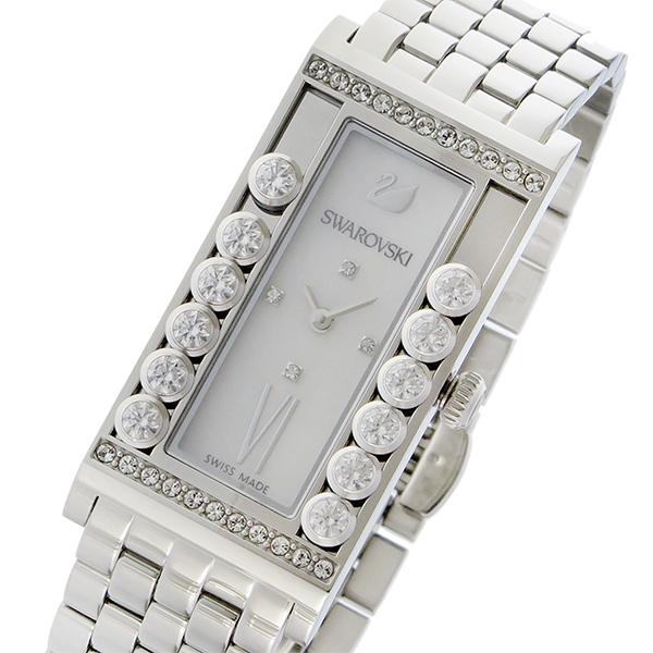 スワロフスキー SWAROVSKI ラブリークリスタルズ スクエア クオーツ レディース 腕時計 5096682 シェル