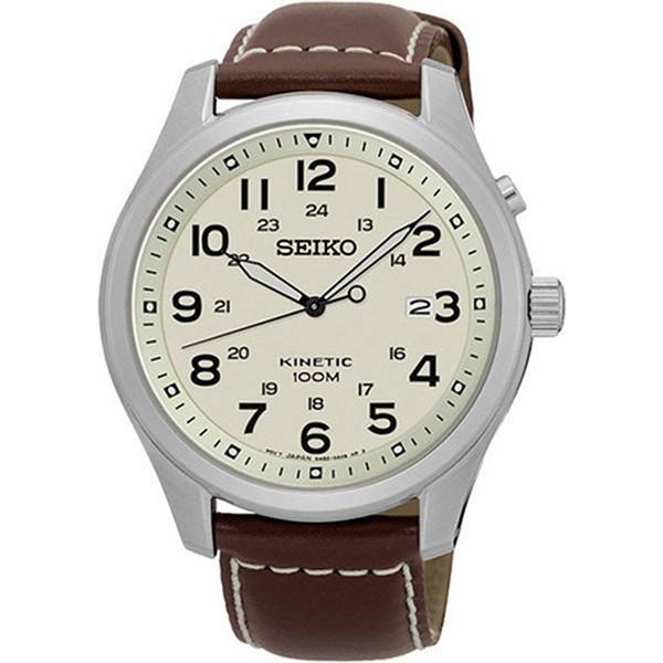 セイコー SEIKO キネティック クオーツ メンズ 腕時計 SKA723P1 アイボリー