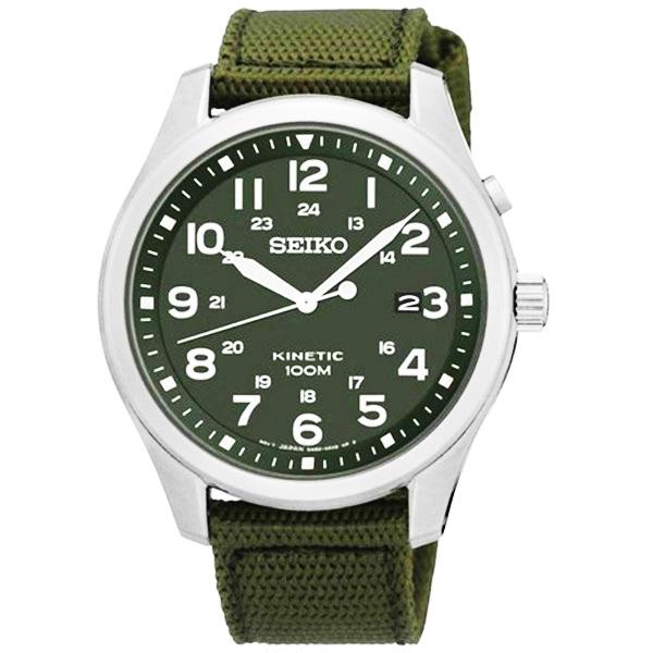 セイコー SEIKO キネティック クオーツ メンズ 腕時計 SKA725P1 カーキ