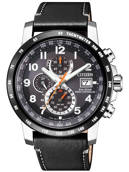 シチズン CITIZEN エコドライブ ソーラー 電波腕時計 サファイアガラス 本革 AT8124-08H