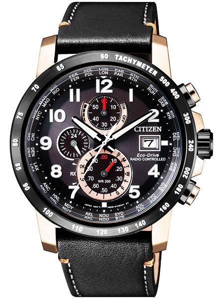 シチズン CITIZEN エコドライブ ソーラー 電波腕時計 サファイアガラス 本革 AT8126-02E