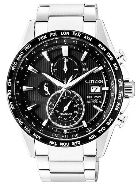 シチズン CITIZEN エコドライブ ソーラー 電波腕時計 オールチタン サファイアガラス AT8154-82E