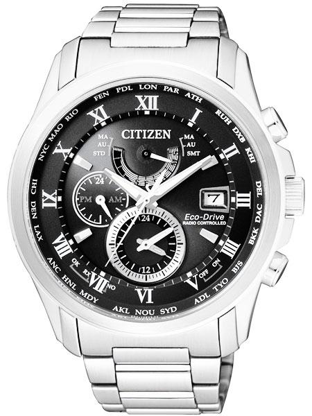 シチズン CITIZEN エコドライブ ソーラー 電波腕時計 サファイアガラス AT9080-57E