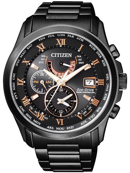 シチズン CITIZEN エコドライブ ソーラー 電波腕時計 サファイアガラス AT9085-53E