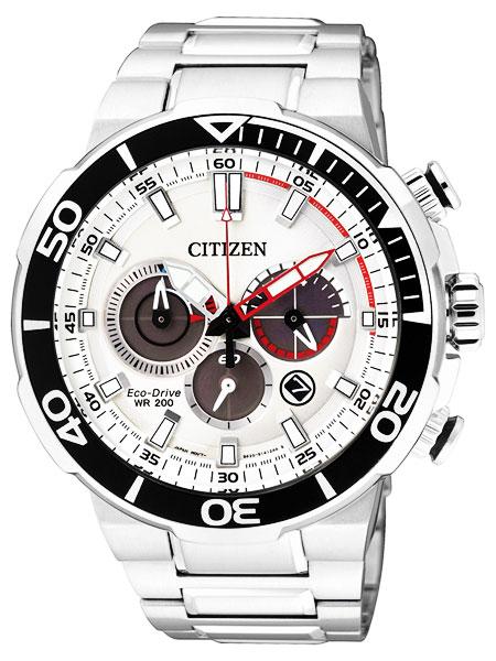 シチズン CITIZEN エコドライブ 200m防水 クロノグラフ 腕時計 メンズ CA4250-54A