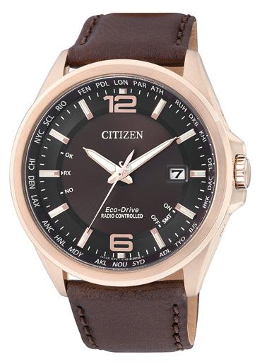 シチズン CITIZEN エコドライブ ソーラー 電波腕時計 サファイアガラス 日本製 CB0018-19W