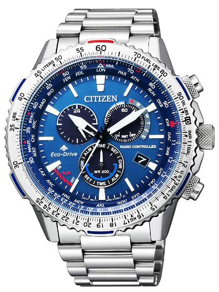 シチズン CITIZEN 腕時計 PROMASTER プロマスター エコ・ドライブ電波時計 パイロット クロノグラフ CB5000-50L