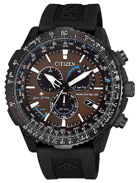 シチズン CITIZEN 腕時計 PROMASTER プロマスター エコ・ドライブ電波時計 パイロット クロノグラフ CB5005-13X