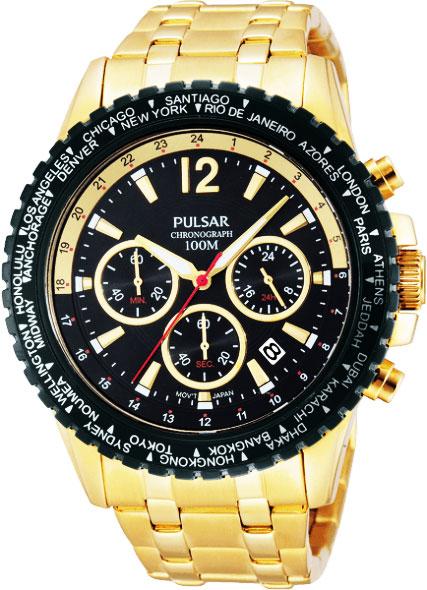 セイコー SEIKO パルサー PULSAR クロノグラフ腕時計 PT3578X1