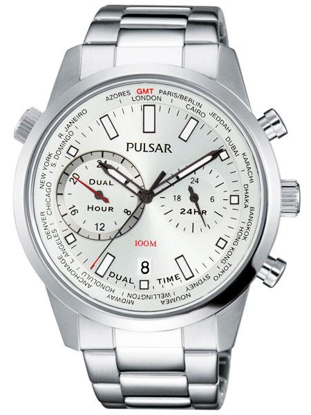 セイコー SEIKO パルサー PULSAR デュアルタイム GMT ワールドタイム 腕時計 PY7001X1