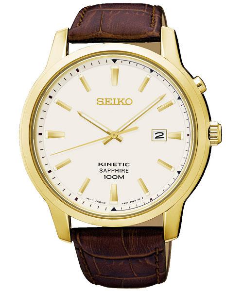 セイコー SEIKO キネティック KINETIC キネティッククオーツ サファイアガラス 腕時計 SKA744P1 アイボリー