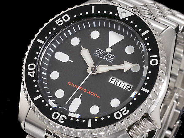 セイコー seiko ダイバー ブラックボーイ 自動巻き 腕時計 SKX007K2