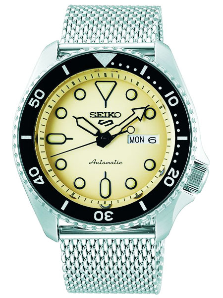 独特な店 セイコー 5 SEIKO セイコー ファイブ 5 スポーツ アイボリー 自動巻(手巻き付き) 腕時計 SRPD67K1 アイボリー メッシュベルト, LEVI'S リーバイス:d8f817fa --- coursedive.com