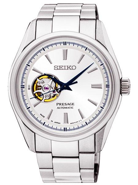 セイコー SEIKO プレサージュ PRESAGE 日本製 自動巻き メンズ 腕時計 SSA355J1 シルバー