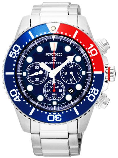 セイコー SEIKO ソーラー クロノグラフ ダイバーズ 腕時計 SSC019P1