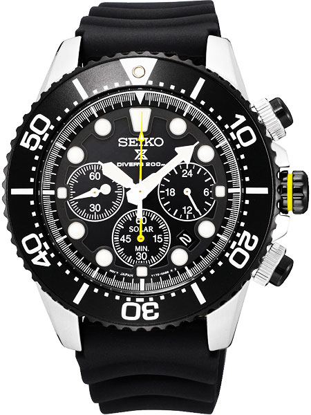 new arrivals 45c08 47cea Seiko SEIKO solar chronograph divers watch SSC021P1