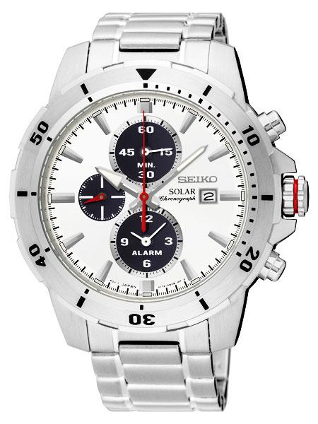 セイコー SEIKO ソーラー SOLAR アラーム クロノ メンズ 腕時計 SSC553P1