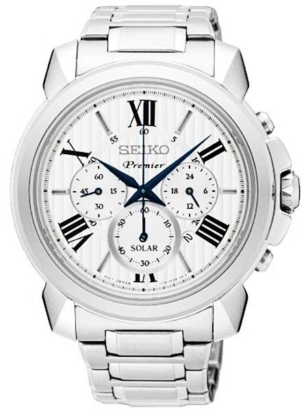 セイコー SEIKO ソーラー クロノグラフ 腕時計 PREMIER プルミエ SSC595P1