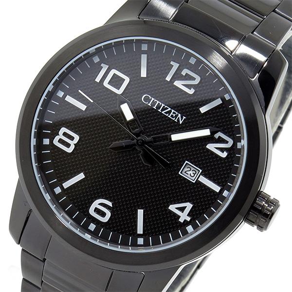 シチズン CITIZEN クオーツ メンズ 腕時計 BI1025-53E ブラック