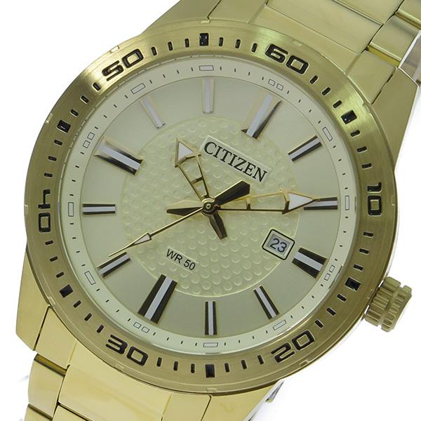シチズン CITIZEN クオーツ メンズ 腕時計 BI1062-57P ゴールド