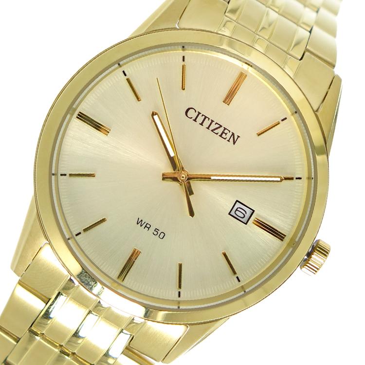 シチズン CITIZEN クオーツ メンズ 腕時計 BI5002-57P ゴールド