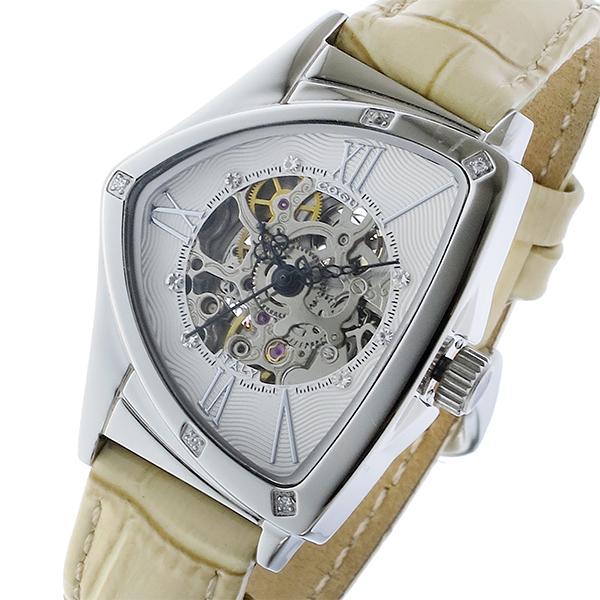 コグ COGU 自動巻き レディース 腕時計 BS01T-WH ホワイト/シルバー