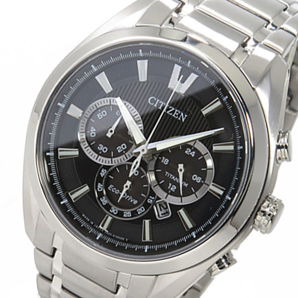 シチズン CITIZEN クロノ クオーツ メンズ 腕時計 CA4011-55E ブラック