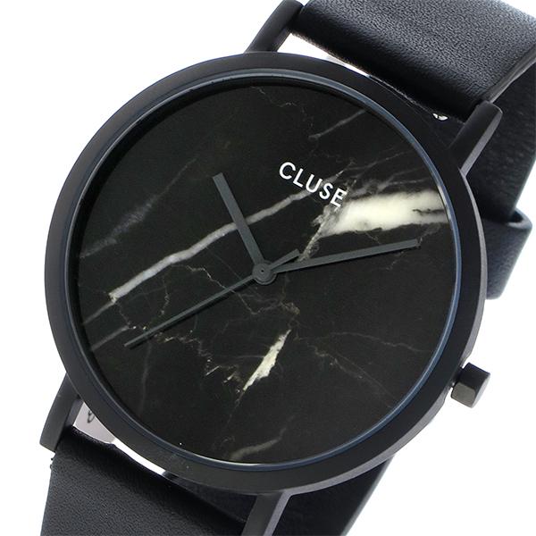 クルース CLUSE ラロッシュ 大理石モデル 38mm ユニセックス 腕時計 CL40001 フルブラック/ブラックマーブル