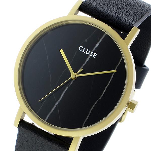 クルース CLUSE ラロッシュ 大理石モデル 38mm ユニセックス 腕時計 CL40004 ゴールド ブラックマーブル/ブラック