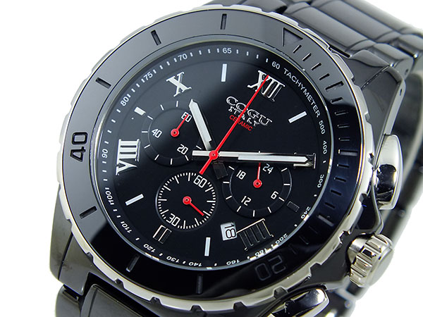 コグ COGU クロノグラフ メンズ 腕時計 CRM2-BBK