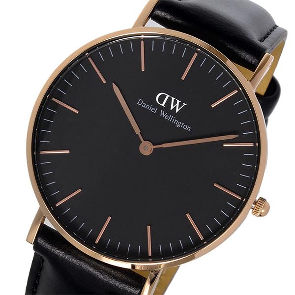 ダニエル ウェリントン クラシック ブラック シェフィールド/ローズ 36mm ユニセックス 腕時計 DW00100139