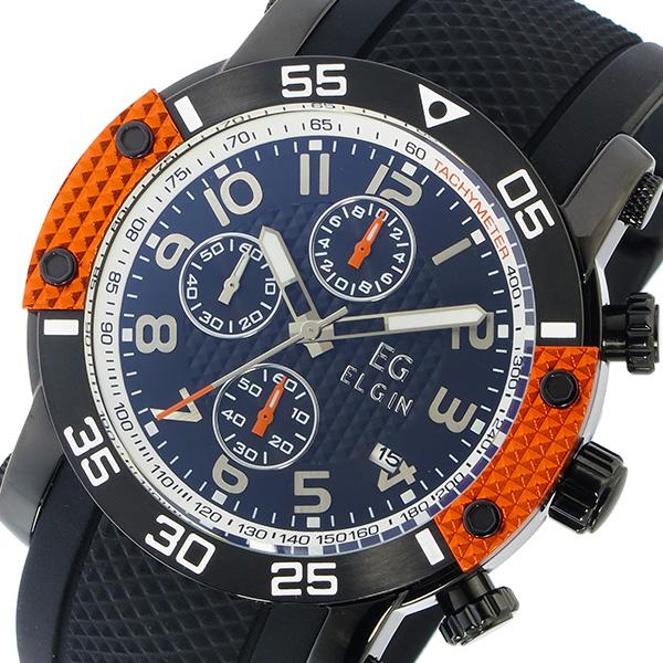 エルジン ELGIN クオーツ クロノ メンズ 腕時計 EG-001-O オレンジ