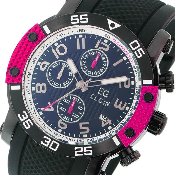 エルジン ELGIN クオーツ クロノ メンズ 腕時計 EG-001-P ピンク