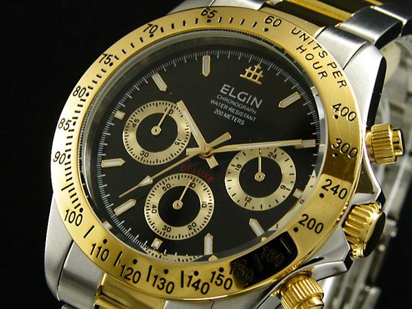 エルジン ELGIN クロノグラフ 腕時計 FK1059TG-B