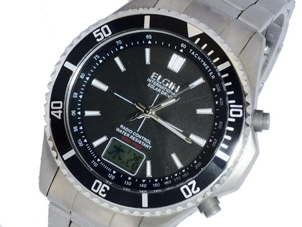エルジン ELGIN ソーラー 電波 メンズ チタン 腕時計 FK1396TI-BP