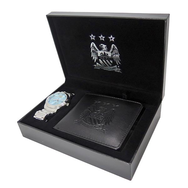 フットボールウォッチ マンチェスターシティ 腕時計 短財布 セット GA5753SET
