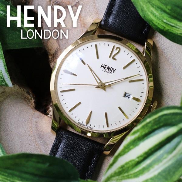 ヘンリーロンドン HENRY LONDON ウェストミンスター 39mm ユニセックス 腕時計 HL39-S-0010 アイボリー/ブラック