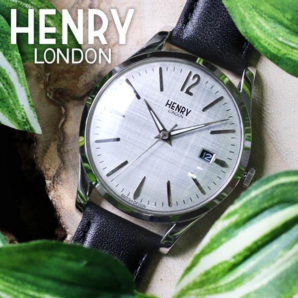 ヘンリーロンドン HENRY LONDON ピカデリー 39mm ユニセックス 腕時計 HL39-S-0075 シルバー/ブラック