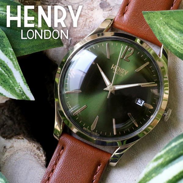 ヘンリーロンドン HENRY LONDON チズウィック 39mm ユニセックス 腕時計 HL39-S-0186 モスグリーン/タン