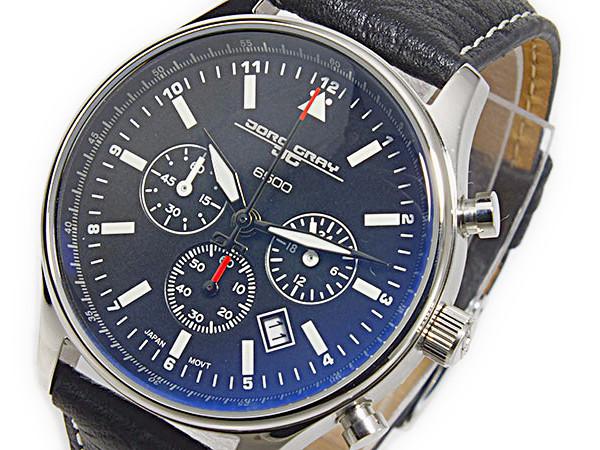 ヨーグ グレイ JORG GRAY シークレットサービス エディション クオーツ ユニセックス クロノ 腕時計 JG6500-21