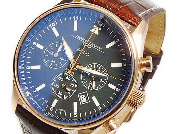 ヨーグ グレイ JORG GRAY シークレットサービス エディション クオーツ メンズ クロノ 腕時計 JG6500-51